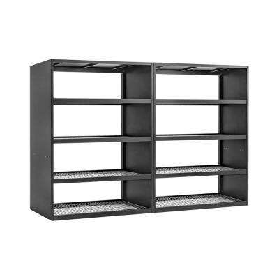 Wall Mountable Garage Shelving Garage Storage The Home Depot In 2020 Newage Products Wall Mount Rack Steel Wall