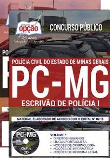 Apostila Concurso Pc Mg 2018 Pdf Download Com Imagens Concurso