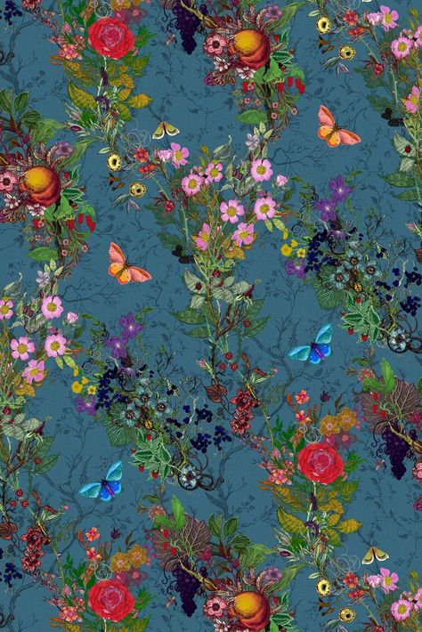 Vines, flowers, butterflies and fruit in four amazing color ways 1310mm (51.5