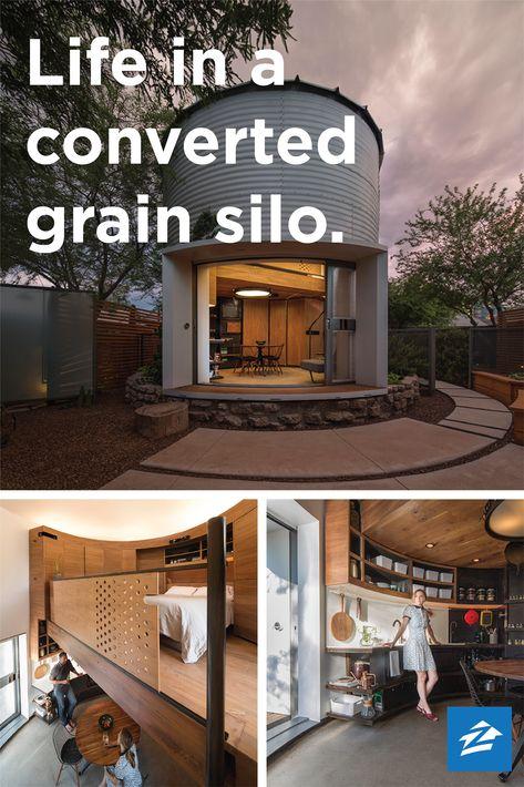 Saying 'I Do' to a Tiny Grain Silo Home