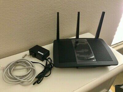 Linksys Ac1750 Max Stream Mu Mimo Gigabit Router Wifi Black Gently Used In 2020 Linksys Gigabit Router Router