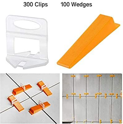 Ogori Tile Leveling System 1 8 Inch Kit 300 Leveling Spacer Clips Plus 100 Reusable Wedges For Lippage Free Til In 2020 Tile Leveling System Diy Tile Tile Installation