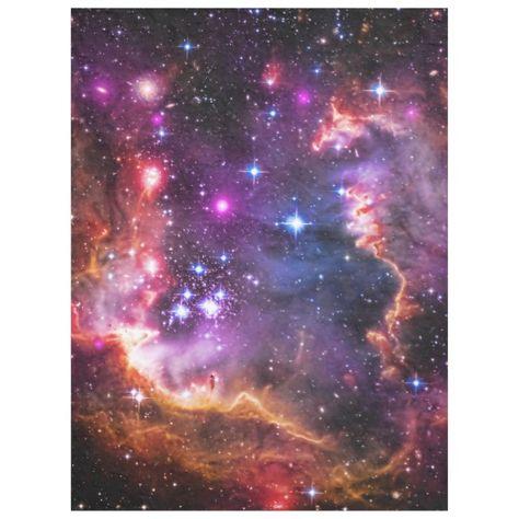 Outer Space Starry Wingtip Small Magellanic Cloud Fleece Blanket