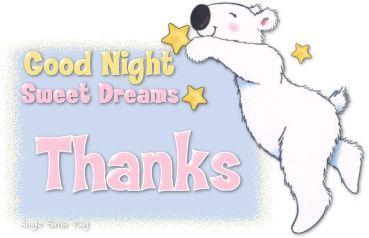 Good Night Sweet Dreams Animation Thank You Images