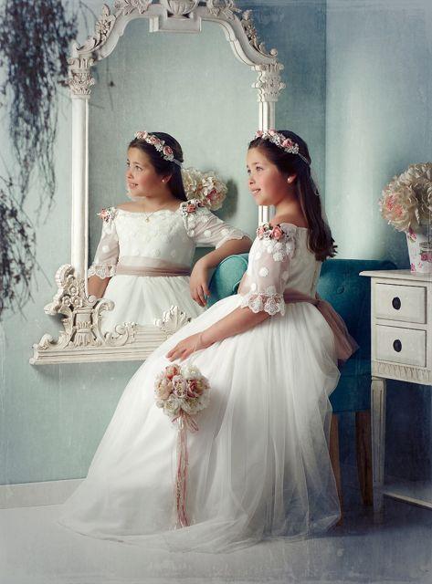 Comunion 1 Vestido Floral Para Chicas Fotos Comunion Vestidos De Novia