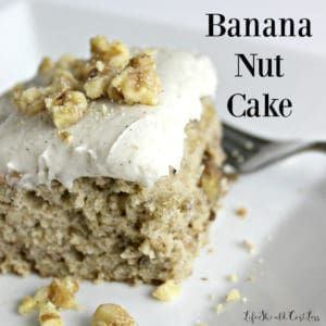 Banana Nut Cake With Sour Cream Frosting Life Should Cost Less Banana Nut Cake Sour Cream Cake Banana Cake Recipe