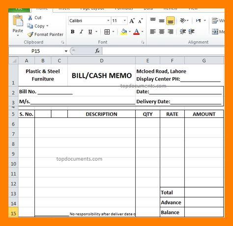 11 Cash Memo Bill Format In Word Example Of Memo Example Of Memo