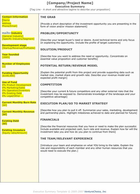Executive Summary Template u2026 Pinteresu2026 - project executive summary template