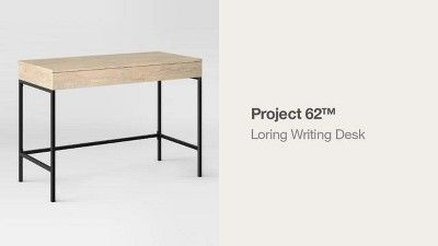 Loring Wood Writing Desk With Drawers Project 62 Vintage Writing Desk Writing Desk With Drawers Wood Writing Desk
