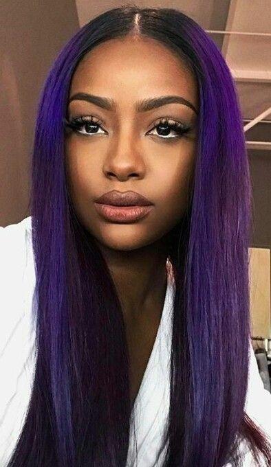 Cleopatra Purple Hair Black Girl Hair Color For Dark Skin Girl With Purple Hair