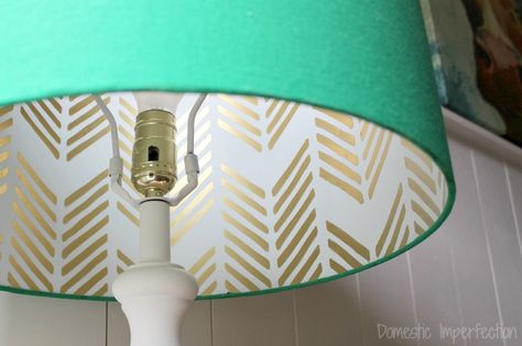 DIY lampshade - has a hidden design that shows through when you turn it on!