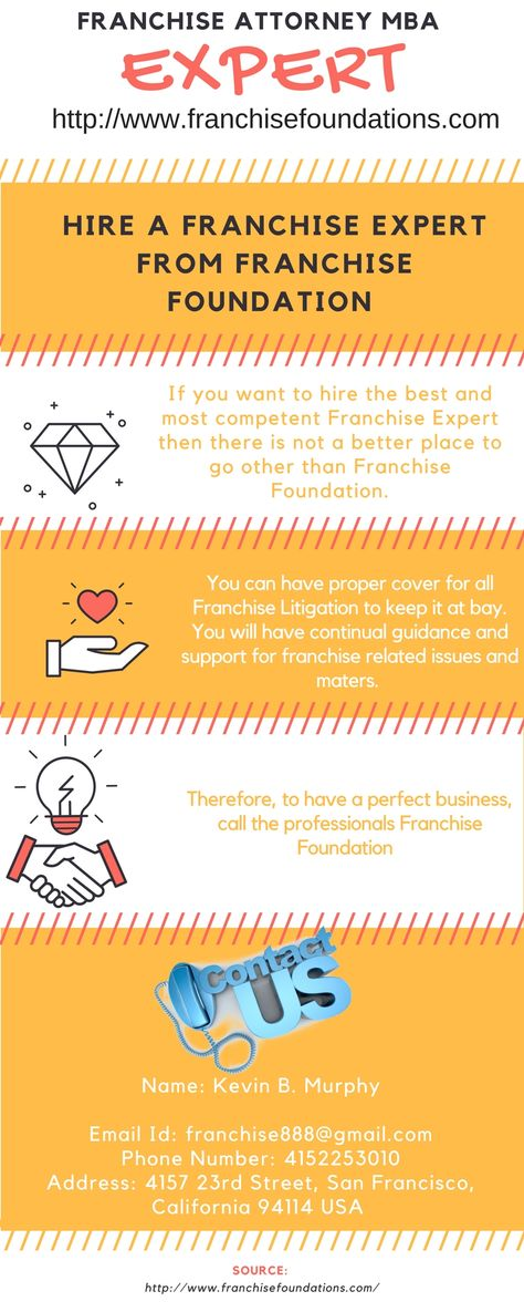 Hire A Franchise Expert From Franchise Foundation If you want to - franchise attorney sample resume