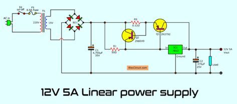 Simple Designing 12v 5a Linear Power Supply Con Imagenes