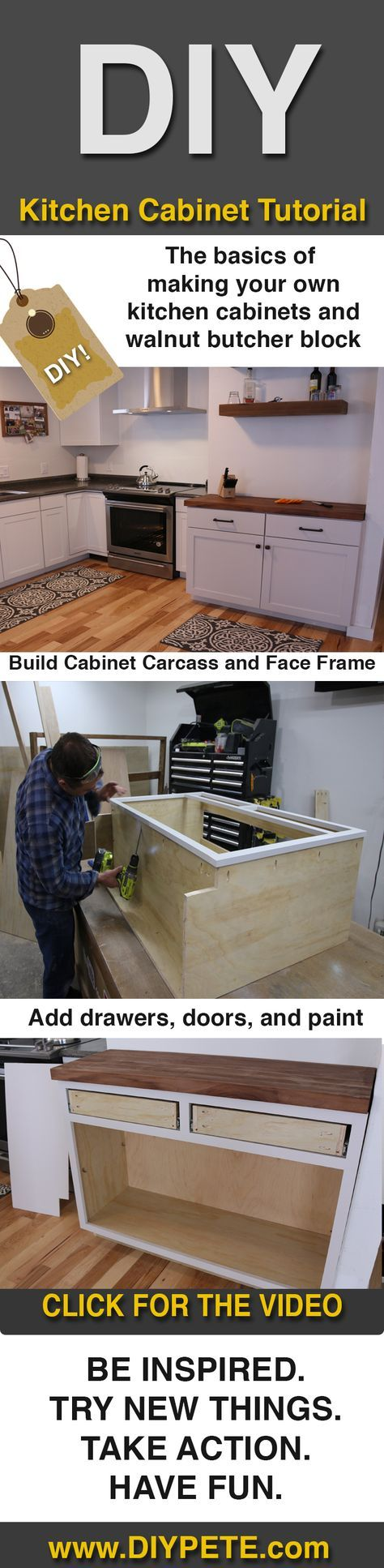 DIY Kitchen Cabinets   DIY Projects With Pete   Kitchen cabinet ...
