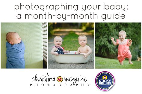 This is a must-read for all new parents! A guide to photographing your baby month-by-month. Love it!