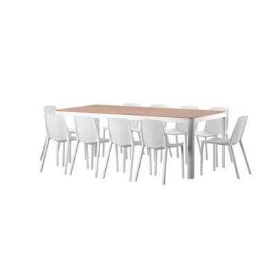 Mercury Row Claudio 11 Piece Dining Set Wayfair In 2020 Dining Set Seating Groups Wooden Garden Benches