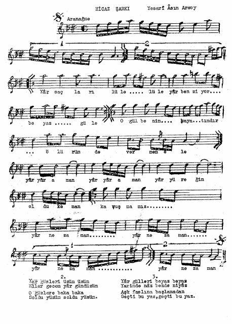 Yar Saclarin Lule Lule Muzik Notalari Muzik Sac