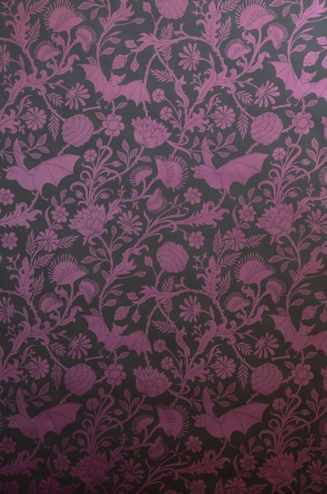 Elysian Fields Purple Wallpaper Gothic Decor