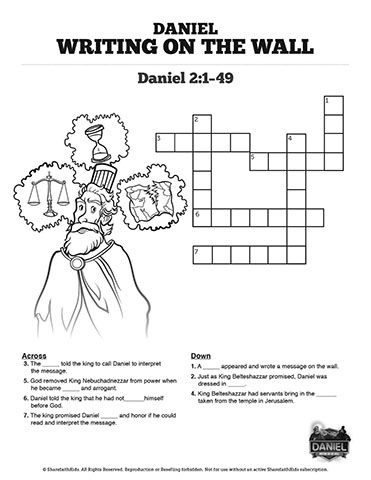 This Daniel 5 Writing On The Wall Crossword Puzzle Will Get Your
