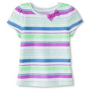 665ca79410e4f Toddler Girls' Striped Short Sleeve Tee Blue - Circo™ : Target ...