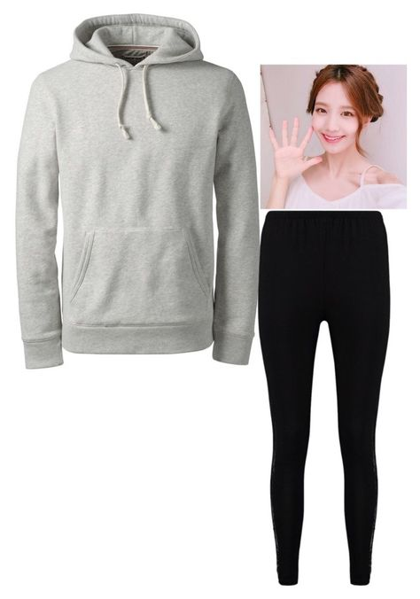 """Still at the hospital"" by kimeunhee ❤ liked on Polyvore featuring Lands' End and Boohoo"