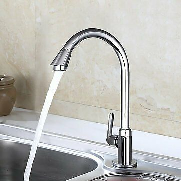 Stainless Steel Single Lever 360 Rotation Spout Kitchen Home Cold
