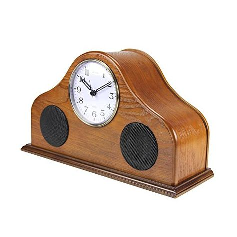 Pyle 2-in-1 Retro Vintage Style Clock /& Bluetooth Stereo Speaker System