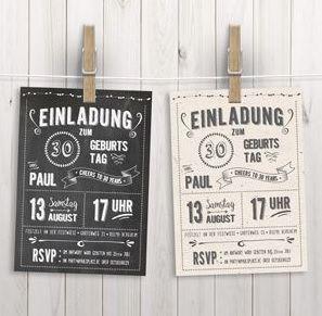 Einladungskarten 30 Geburtstag Selber Basteln Archives Elegant