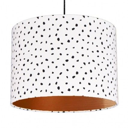 Dalmatian Spots Lampshade Copper Red Candy Red Candy Quirky Decor Pendant Lighting