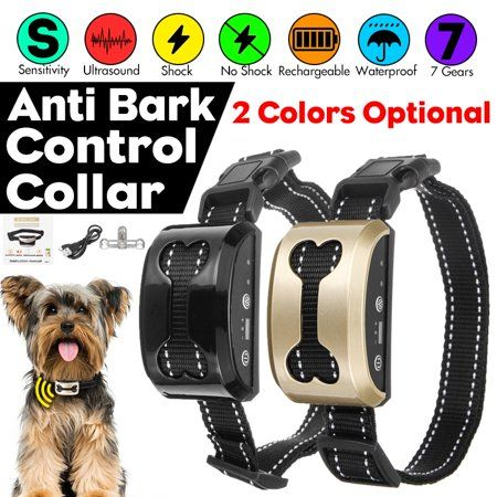 Pets Bark Control Collar Training Collar Anti Bark Collar