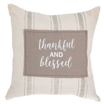Thankful Blessed Striped Pillow Hobby Lobby 5061205 Thankful And Blessed Chic Pillows Pillows
