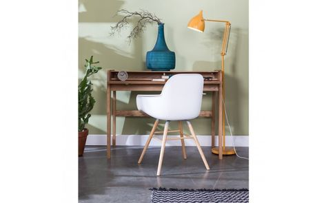 Bureau table de barbier en bois design scandinave leo un bureau