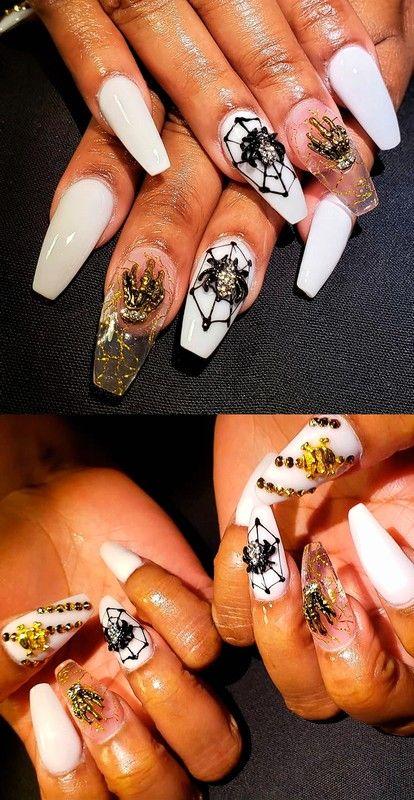 34 Easy Fall Nail Art Pumpkin Nails In 2020 Halloween Nail Designs Pumpkin Nails Nail Designs