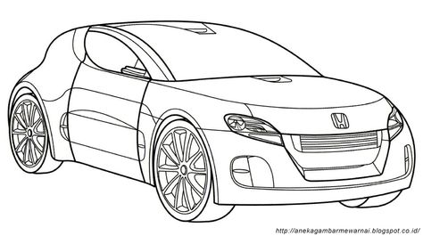 12 Ide Mewarnai Kendaraan Warna Buku Mewarnai Sketsa