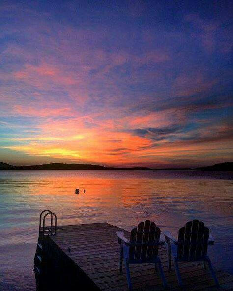 Sunset on Maine's Moosehead Lake, the largest mountain lake in the eastern United States. (Photo via Instagram: @brive47) #LLBeanMoment #TheWayLifeShouldBe