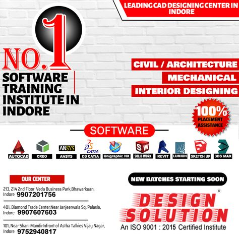 Looking For Best Software Training In Civil Architecture Mechanical Interior Designing Sotratres Join D Design Solutions Wellness Design Autocad Training