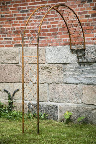 Wandrosenbogen Metall Porto Gross Breite 150cm Rost Rosenbogen Laubengang Pflanzenstutze