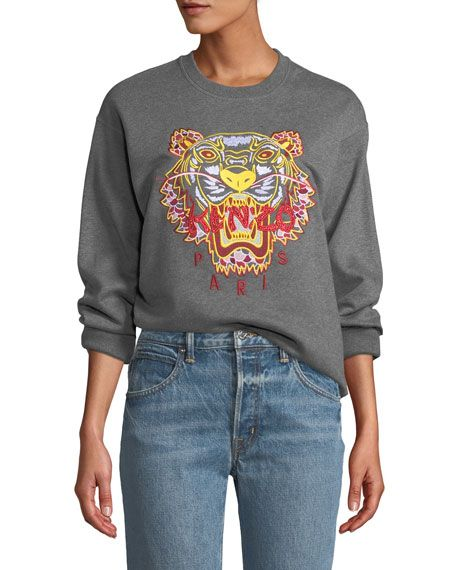 9f2efd88 Dragon Tiger Logo Crewneck Pullover Sweatshirt by Kenzo at ...