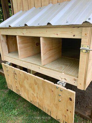 Inside Chicken Coop, Cute Chicken Coops, Chicken Coop Designs, Chicken Laying Boxes, Chicken Nesting Boxes, Laying Boxes For Chickens, Nesting Boxes For Chickens, Chicken Boxes, Backyard Chicken Coop Plans