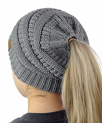 6f6ed2f70 BeingStyle | Gagget Women's Winter Knit Cup Beanie Ponytail Winter ...