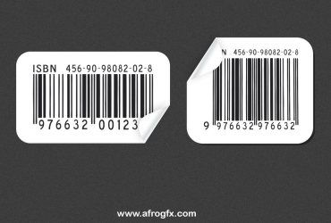 Barcode Afrogfx A Simple Free Barcode In Both Vector And Psd Formats Barcode Stickers Mockup Free Download