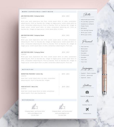 Resume Template Word, CV Design, Resume Template, CV Word, Simple Resume, Professional Resume Template, CV Template, Cover Letter