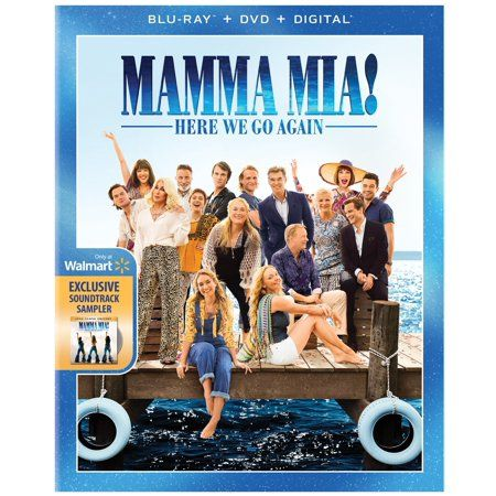 Mamma Mia Here We Go Again Blu Ray Dvd Digital Copy Walmart Com Mamma Mia Movies To Watch Office Movie