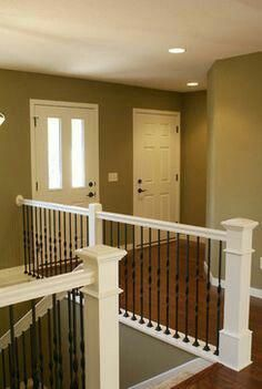 Perfect Open Concept Banister Banisterremodel Wrought Iron