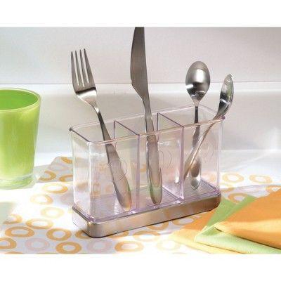 Interdesign Forma Stainless Steel Flatware Organizer Clear Adult
