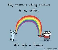 Good Morning Everyone Surrogatemom Baby Unicorn Rainbow Coffee Unicorn