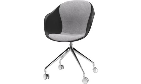 Dining And Office Chair Chaise Adelaide A Roulettes Avec