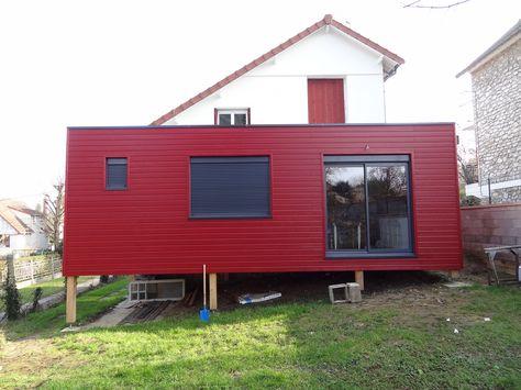 bardage couleur silverwood extra rouge sang de boeuf maison