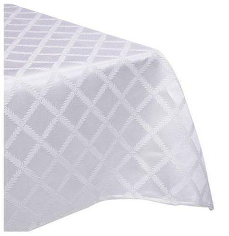 Lenox Laurel Leaf 70X144 Oblong Tablecloth- White