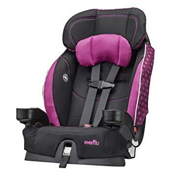 Evenflo Chase Select Harnessed Booster Car Seat Berry Dot Review
